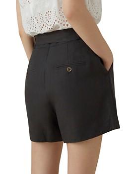 KAREN MILLEN - Belted Pleated Shorts
