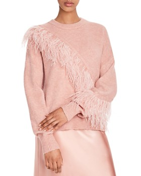 Cinq à Sept - Merritt Feather-Trimmed Pullover Sweater