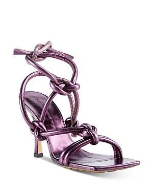 Bottega Veneta Sandals WOMEN'S METALLIC LEATHER HIGH-HEEL SANDALS