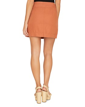Sanctuary - Desert Button-Front Mini Skirt