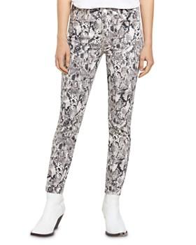 Sanctuary - Social Standard Snakeskin-Print Ankle-Length Jeans