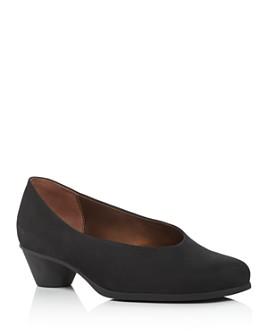 Arche - Women's Cynoa Almond-Toe Kitten-Heel Pumps