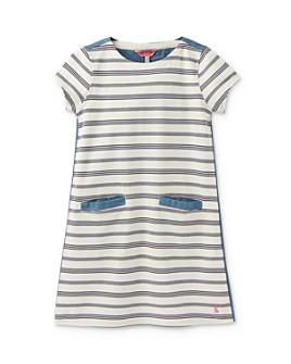 Joules - Girls' Grace Striped Chambray Dress - Little Kid, Big Kid
