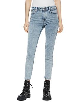 ALLSAINTS - Grace Cropped Acid-Wash Jeans