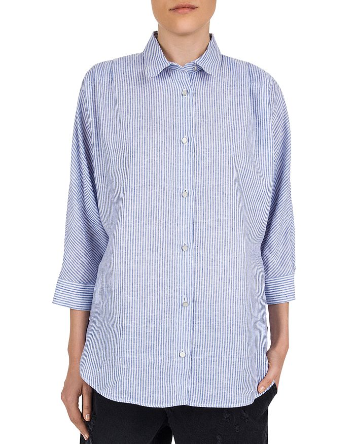 98f08ffd690 The Kooples Striped Linen Button-Down Shirt | Bloomingdale's