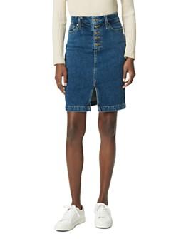 Joe's Jeans - Button-Fly Denim Pencil Skirt