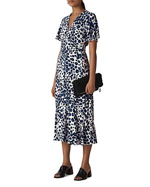Whistles Leopard-Printed Midi Dress