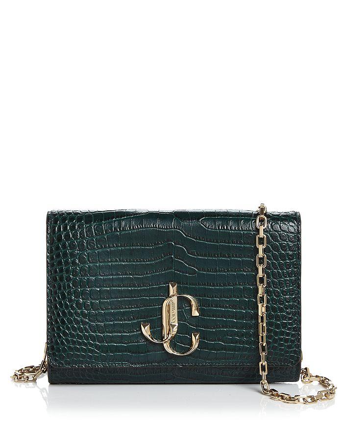 Jimmy Choo - Varenne Crocodile-Embossed Leather Wallet on Chain