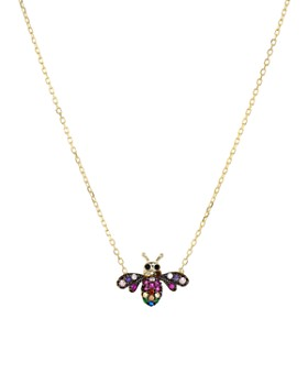 """AQUA - Bee Pendant Necklace in Gold-Plated Sterling Silver, 16"""" - 100% Exclusive"""