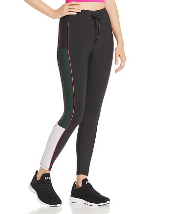 AQUA - Piped Color-Block Leggings - 100% Exclusive