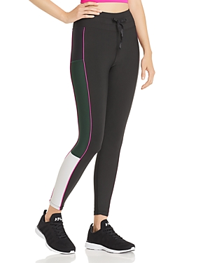 Aqua Athletic Piped Color-Block Leggings - 100% Exclusive