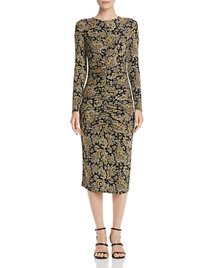 Joie Dresses AJA LONG-SLEEVE PAISLEY MIDI DRESS