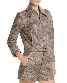 Joie - Abraham Snakeskin-Print Leather Jacket