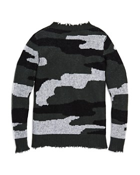 AQUA - Girls' Camo Cashmere Sweater, Big Kid - 100% Exclusive