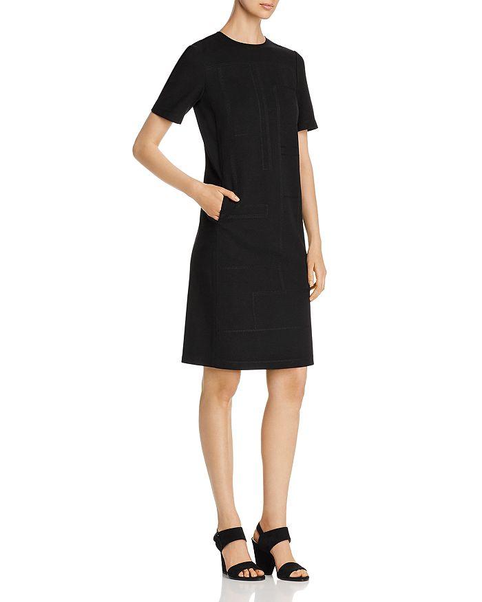 Lafayette 148 New York - Jacintha Short-Sleeve Topstitched Shift Dress