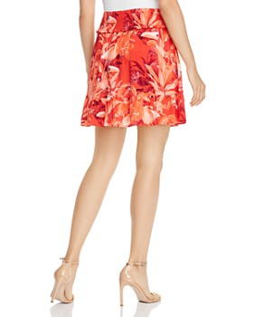 GUESS - Rona Smocked Floral-Print Mini Skirt