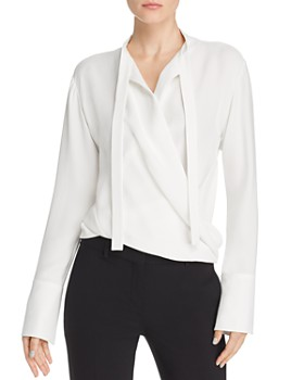 Narciso Rodriguez - Draped Faux-Wrap Silk Blouse