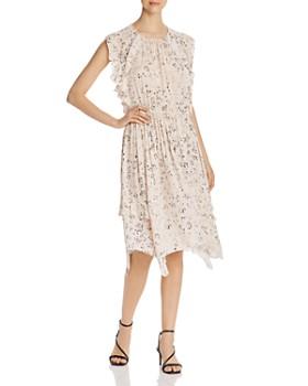Go by Go Silk - Floral Handkerchief-Hem Dress