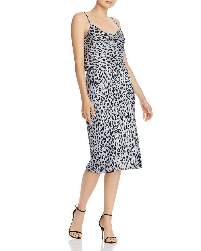 cd935ee1c Mayah Leopard Print Slip Skirt