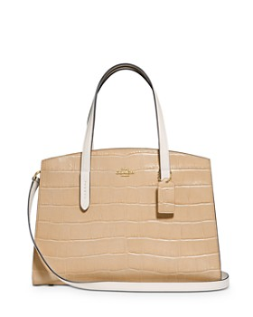 COACH - Croc-Embossed Leather Tote