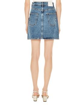 Sandro - Kennah Metallic Painted Denim Skirt