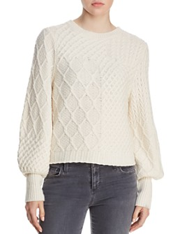 FRAME - Mixed Cable-Knit Sweater