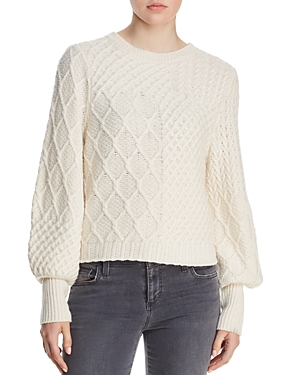 Frame Knits MIXED CABLE-KNIT SWEATER
