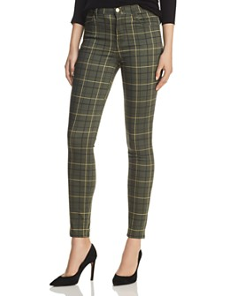J Brand - Maria High Rise Skinny Jeans in Sorrel Plaid - 100% Exclusive
