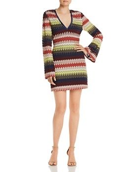 Ramy Brook - Jaime Striped Crochet-Lace Dress