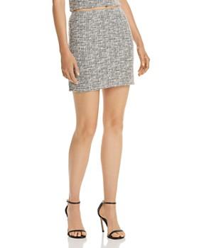 AQUA - Textured Mini Skirt - 100% Exclusive