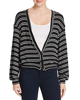 Red Haute - Striped Knit Cardigan