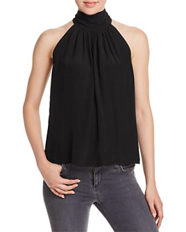 Red Haute - Mock-Neck Tie-Back Tank