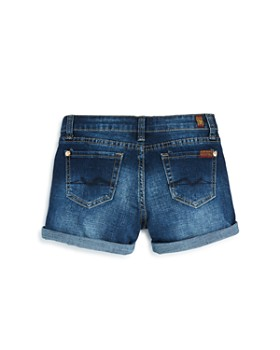 7 For All Mankind - Girls' Cuffed Denim Shorts - Little Kid, Big Kid