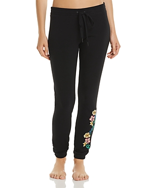 Pj Salvage Peachy Jersey Knit Embroidered Pants-Women