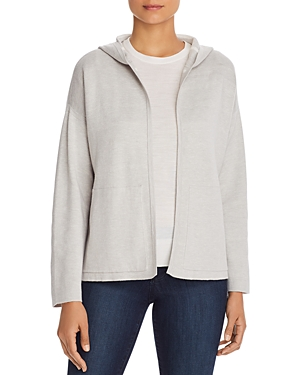 Eileen Fisher Reversible Hooded Cardigan