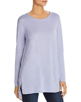 Eileen Fisher Petites - Silk Woven-Back Tunic Top