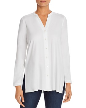 bc991798d3d93c Eileen Fisher - Banded-Collar Tunic Top ...
