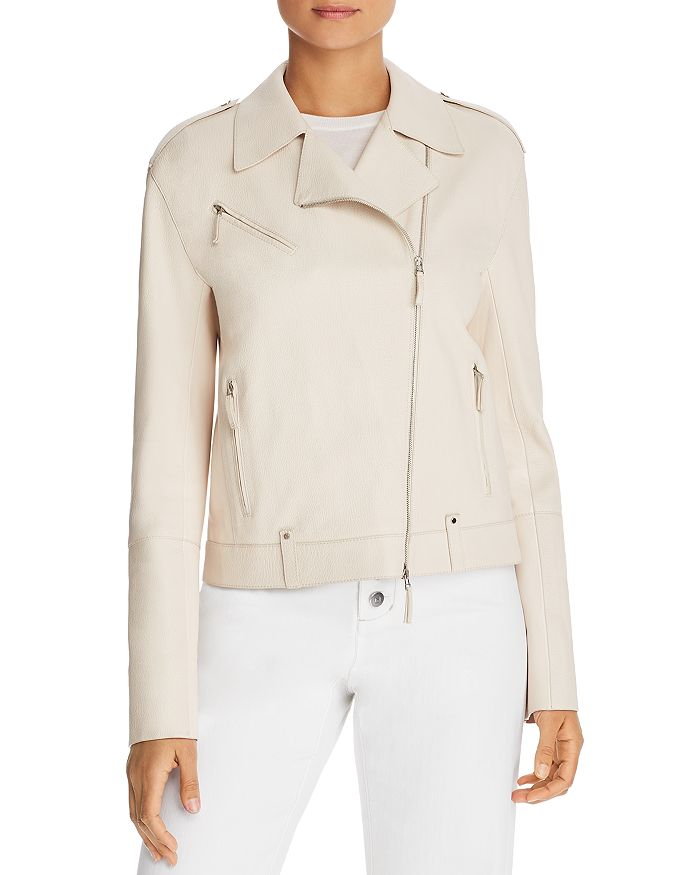 Lafayette 148 New York - Bernice Leather Moto Jacket