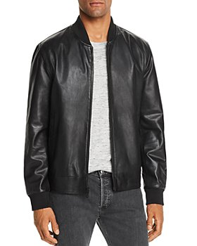 Cole Haan - Reversible Leather Bomber Jacket