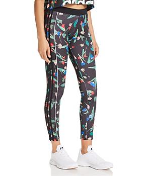 Adidas - Triple Stripe Floral Leggings