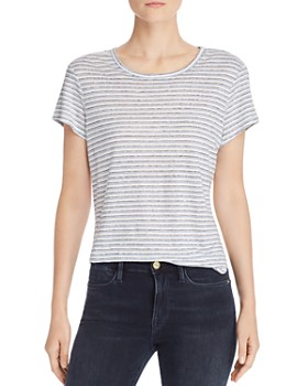FRAME - Classic Striped Linen Tee