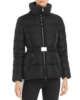 Moncler - Alouette High-Collar Belted Down Coat