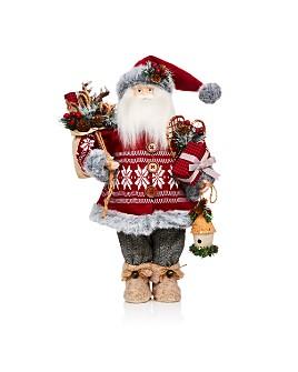 Bloomingdale's - Rustic Lodge Santa Figurine - 100% Exclusive
