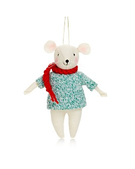 Bloomingdale's - Fabric Mouse Tree Ornament - 100% Exclusive