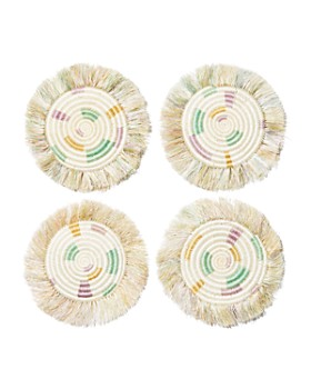 All Across Africa - Fringed Coasters, Set of 4