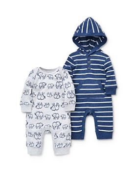 Little Me - Boys' Elephant Coveralls, 2 Pack - Baby