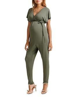 Ingrid & Isabel - Maternity Crossover Nursing Jumpsuit