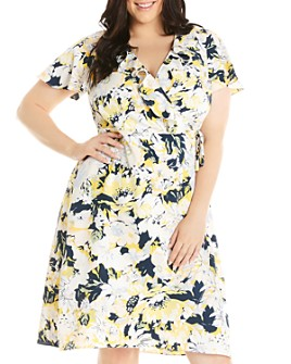 Estelle Plus - Paradise Island Ruffled Wrap Dress