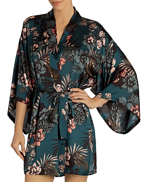 Midnight Bakery Tropical Floral-Print Robe