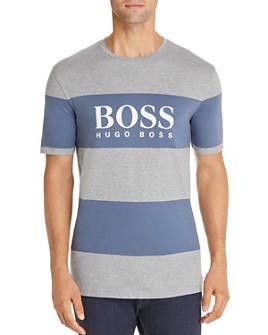 BOSS - Tiburt Striped Logo Tee